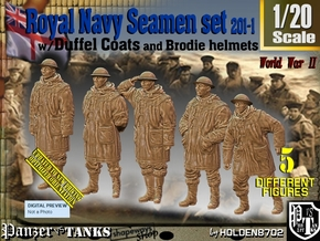 1/20 Royal Navy Duffel Coat Set201-1 in White Natural Versatile Plastic