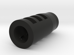 Sniper Flash Hider (14mm-) in Black Natural Versatile Plastic