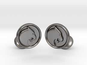 Black Panther Cufflinks in Polished Nickel Steel