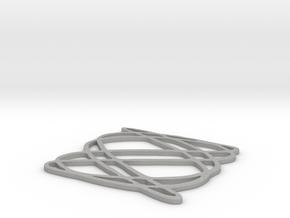 Lissajous coaster 3:5 pi/4 in Aluminum