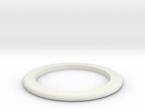 DM1-Ring 2.0mm in White Natural Versatile Plastic