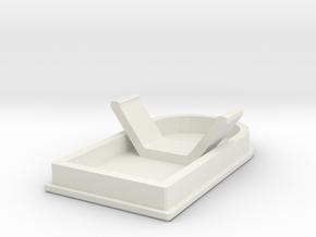 Fuel filler recess cover D90 D110 Team Raffee in White Natural Versatile Plastic