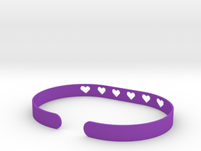 Heart Bracelet in Purple Processed Versatile Plastic