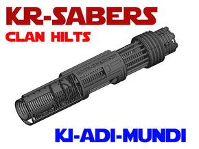 KR-S Clan Hilts - Ki-Adi-Mundi Chassis in White Natural Versatile Plastic