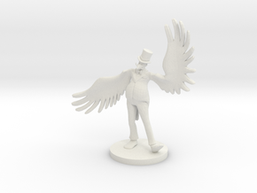 Fat Bird Salesman in White Natural Versatile Plastic