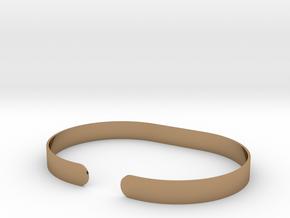 Round .25in Bracelet in Polished Brass