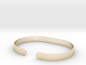 Front Striped Bracelet in 14K Yellow Gold