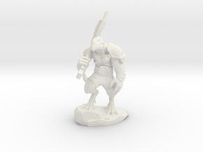 Dragonborn Warrior 5.5cm in White Natural Versatile Plastic