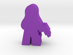 Game Piece, Hooded SNAKE Commander in Purple Processed Versatile Plastic