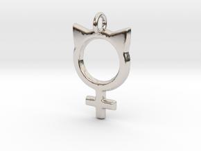 Female Symbol with Cat Ears in Platinum