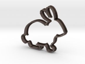 Rabbit Cookie Cutter in Polished Bronzed Silver Steel