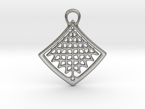 Organic Structure Pendant in Natural Silver