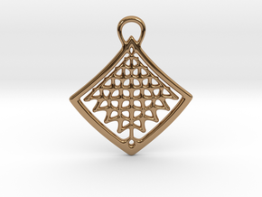 Organic Structure Pendant in Polished Brass