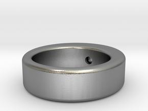 rollerball in Interlocking Raw Silver