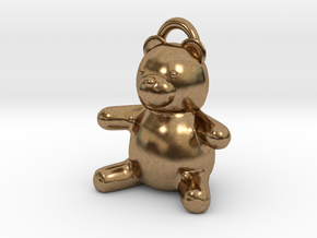 Tiny Teddy Bear w/loop in Natural Brass
