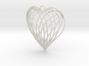 Woven Heart in White Premium Strong & Flexible