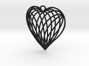Woven Heart in Black Premium Strong & Flexible