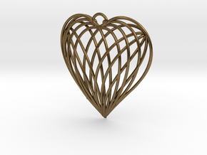 Woven Heart in Natural Bronze