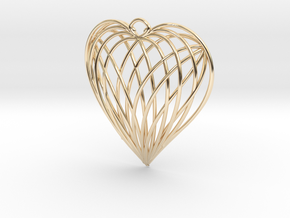 Woven Heart in 14K Yellow Gold