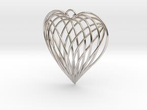 Woven Heart in Platinum