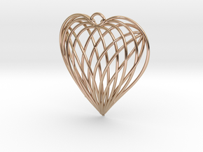 Woven Heart in 14k Rose Gold Plated Brass