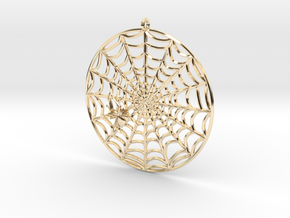 Spiderweb Pendant in 14k Gold Plated Brass