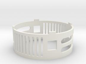 Metal Master 08 (speaker cover) in White Premium Versatile Plastic