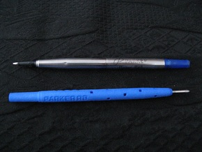 Adapter: Parker RB to D1 Mini in Blue Processed Versatile Plastic