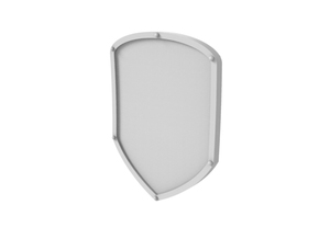 War Shield - Plain in Smooth Fine Detail Plastic