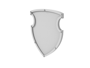 Battle Shield in Smooth Fine Detail Plastic
