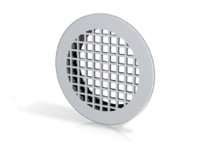 Vent Insert - 50mm hole flat squares in White Strong & Flexible