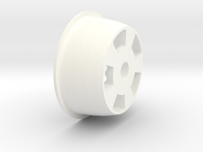 1:8 Rear American Five Spoke Wheel in White Processed Versatile Plastic