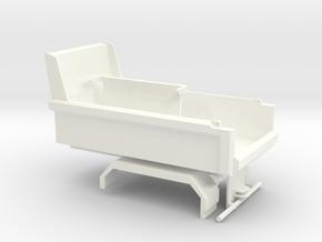 Tippkasse bil 95mm med baklem og chassi in White Processed Versatile Plastic