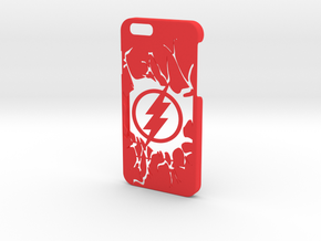 Flash Logo Phone Case-iPhone 6/6s in Red Processed Versatile Plastic