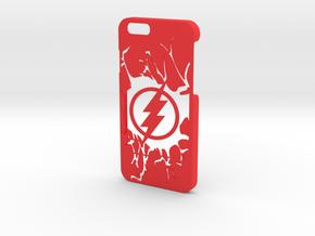 Flash Logo Phone Case-iPhone 6/6s in Red Processed Versatile Plastic