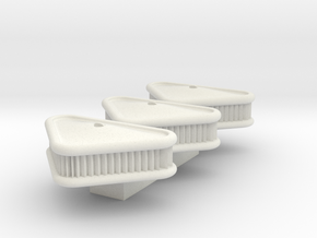 1/24 Scale Arrowhead Filter (3Pack) in White Natural Versatile Plastic