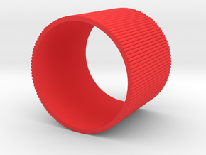 INGRANAGGI Bangle Super BOLD 6cm in Red Strong & Flexible Polished