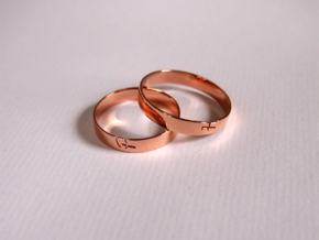 Ring with character in 14k Rose Gold