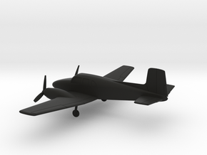Beechcraft Model 50 Twin Bonanza in Black Natural Versatile Plastic: 1:160 - N