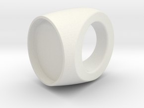 Custom Ring 76 US 9 in White Natural Versatile Plastic