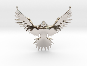 Falcon Amulet in Rhodium Plated Brass