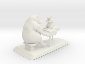 PianoScene in White Natural Versatile Plastic