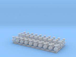 50 Stück Lüfterköpfe 1:40 Typ-A-B-C-D-E in Smooth Fine Detail Plastic