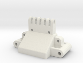 losi xx, xx cr, xxt and xxt cr front bulkhead  in White Natural Versatile Plastic