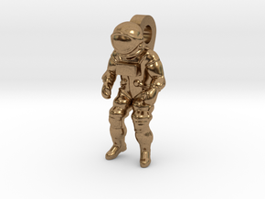 Astronaut Earring Pendant / 21mm in Natural Brass