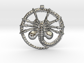 Facehugger - Amulet - Alien in Polished Silver
