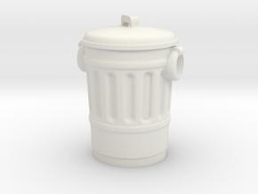 City Trash Bin 28mm -- Pulp Alley in White Natural Versatile Plastic