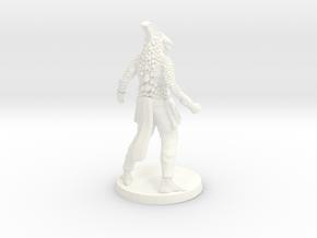 Dragonborn Monk in White Processed Versatile Plastic
