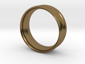 SingleGroove Ring size 9 in Polished Bronze: 9 / 59