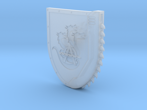 Right-handed Chainshield (Hydra Chain design) in Smooth Fine Detail Plastic: Small